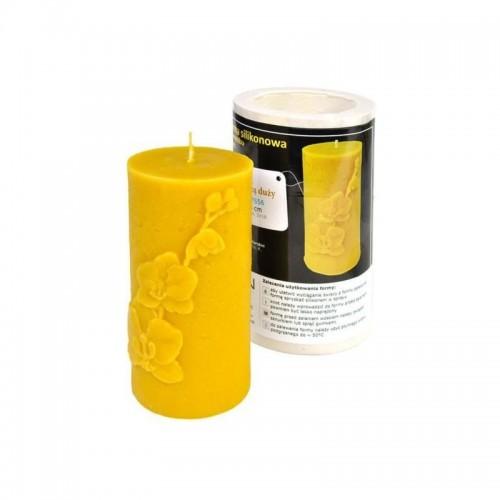 Форма силиконовая для свечей - Ролик большой Орхидея (13,5см)