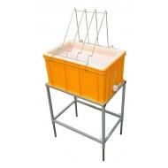 Стіл для розпечатування з ванночкою пластиковою 300 мм, сито пластик.