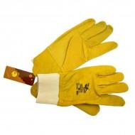 Перчатки кожаные с стягивателем САУН