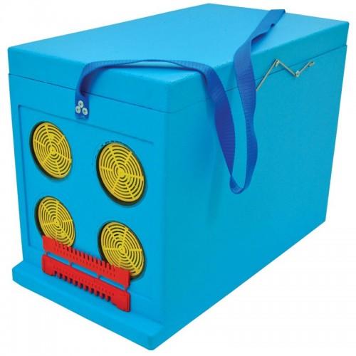 Ящик Дадан для транспортування бджіл 6-рамковий, фарбований