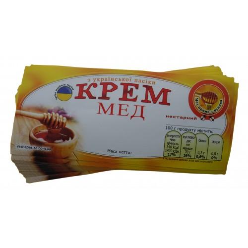 Этикетка Крем Мед (116х50)
