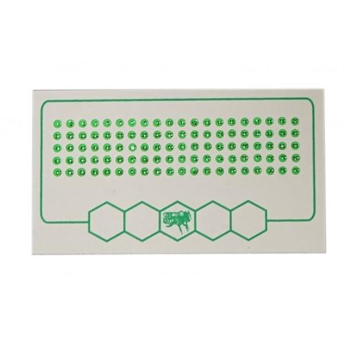 Мітки для бджолних маток маток зелений колір (1-100)