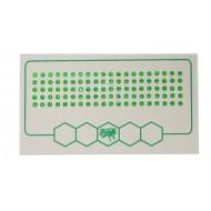 Мітки для бджолиних маток зелений колір (1-500) упаков.