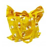 Сумка жовта з бджілками (40см х 42см)