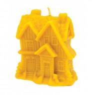 Форма силіконова для свічок - Зимовий будиночок з ялинками