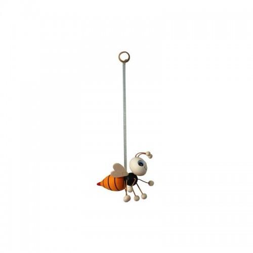 Іграшка бджола деревяна на пружині