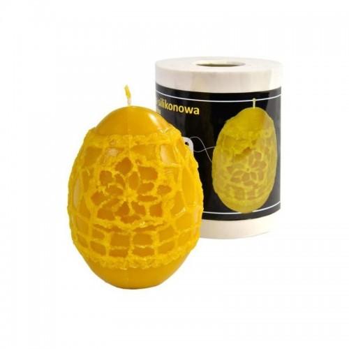 Форма силиконовая Яйцо с кружевом (9 см)