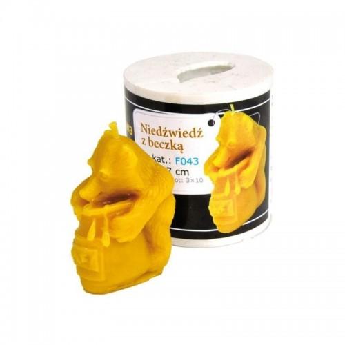 Форма силиконовая Медведь с бочкой