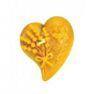 Форма силіконова - Серце з букетом лаванди
