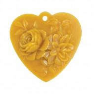 Форма силіконова - Серце з квітами (підвіска)