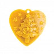 Форма силіконова - Серце з ялинкою (підвіска)