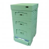 Вулик пінополістирол Дадан на 10 рамок Lyson з гігієнічним дном фарбований (повністю зелений)