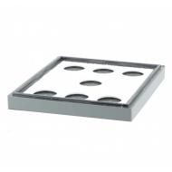 Потолок пенополистирол 10 рамок Lyson крашенный (серый)
