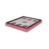 Потолок пенополистирол 10 рамок Lyson крашеная (розовая)