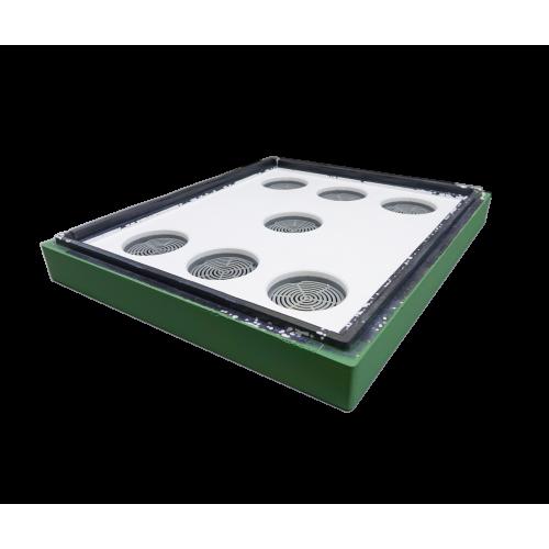 Стеля пінополістирольна 10 рамок Lyson фарбована (зелена)