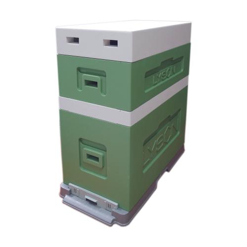 Вулик Дадан пінополістирольний на 6 рамок Дадан (з надставкою) фарбований зелений