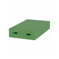 Дашок пінополістирольний до 6-ти рамкового вулика Дадан фарбований (зелений)