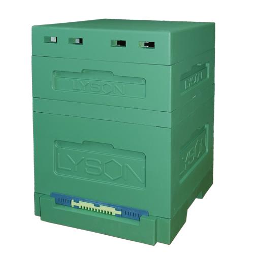 Улей пенополистирольный Дадан на 12 рамок Lyson с гигиеническим дном на одну семью крашеный (зеленый)