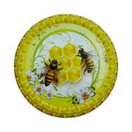 Крышка металлическая для меда (Твист-82) Пчелы на сотах