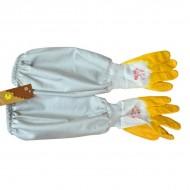Рукавиці гумові з полотном Одяг