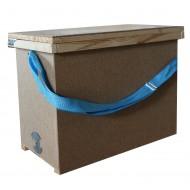 Ящик для переносу 6-ти рамок з 1-ю регульованою ремінною ручкою (385 х 520 х 235)