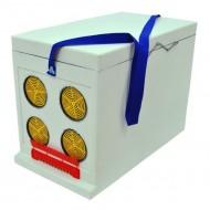 Ящик Дадан для транспортировки пчел 6-рамочный, некрашеный Рамконосы и роевни